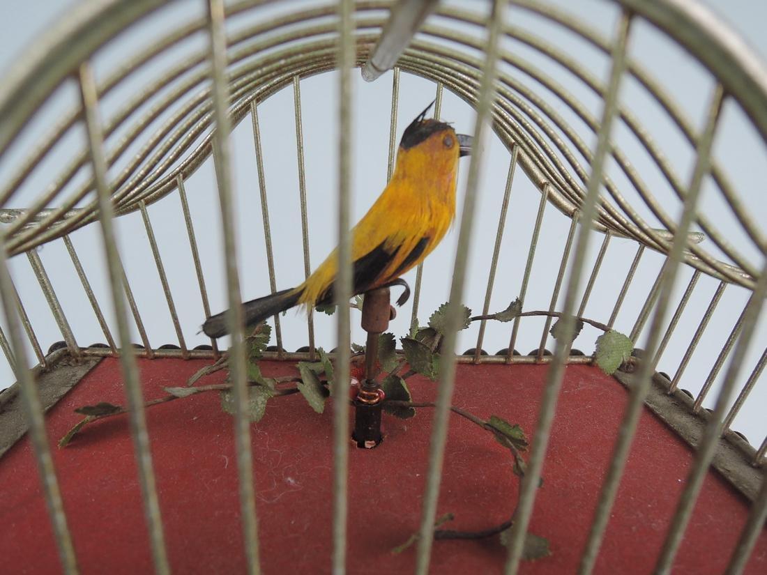 Rare Amusing Mid-Century Singing Bird Clock - 3