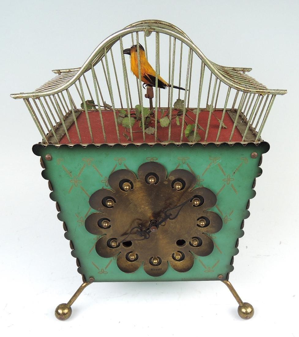 Rare Amusing Mid-Century Singing Bird Clock - 5