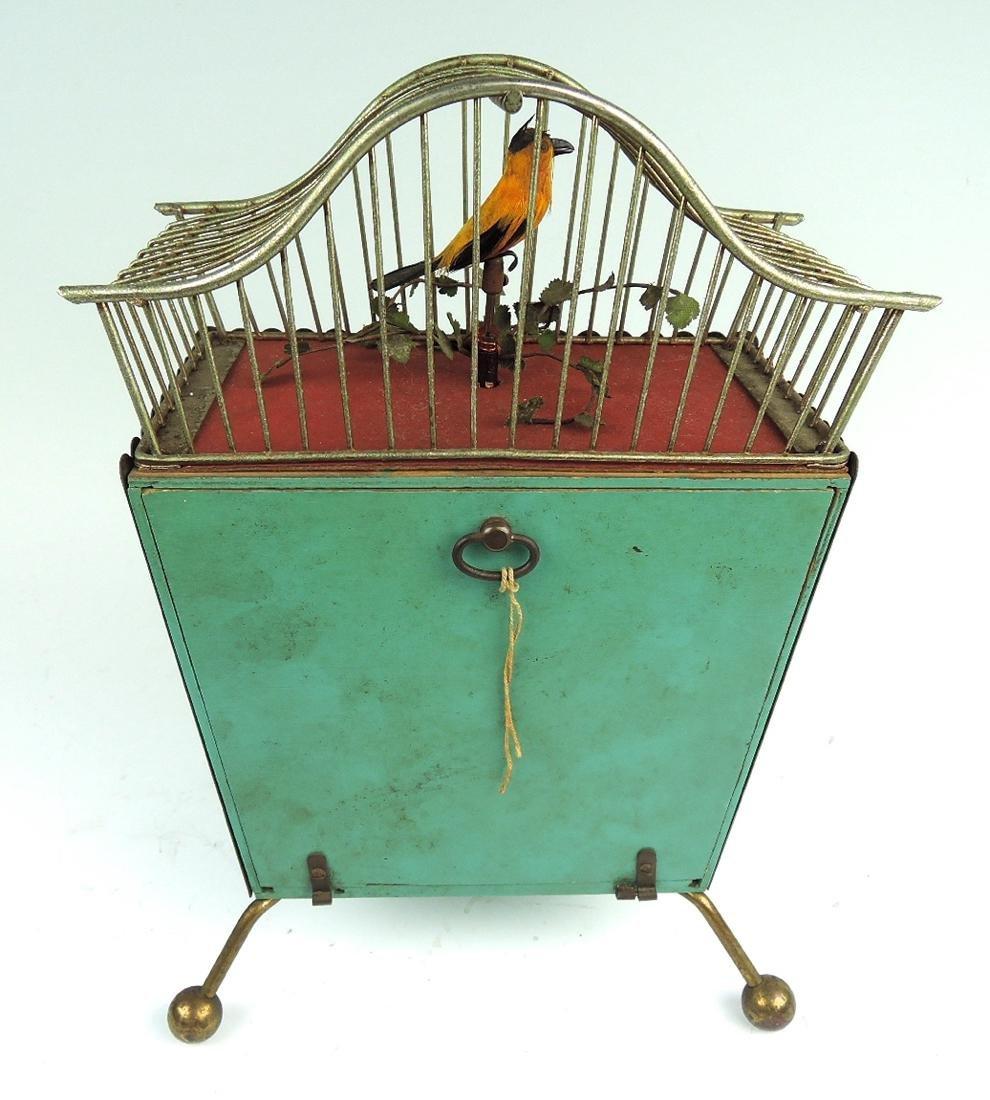 Rare Amusing Mid-Century Singing Bird Clock - 6
