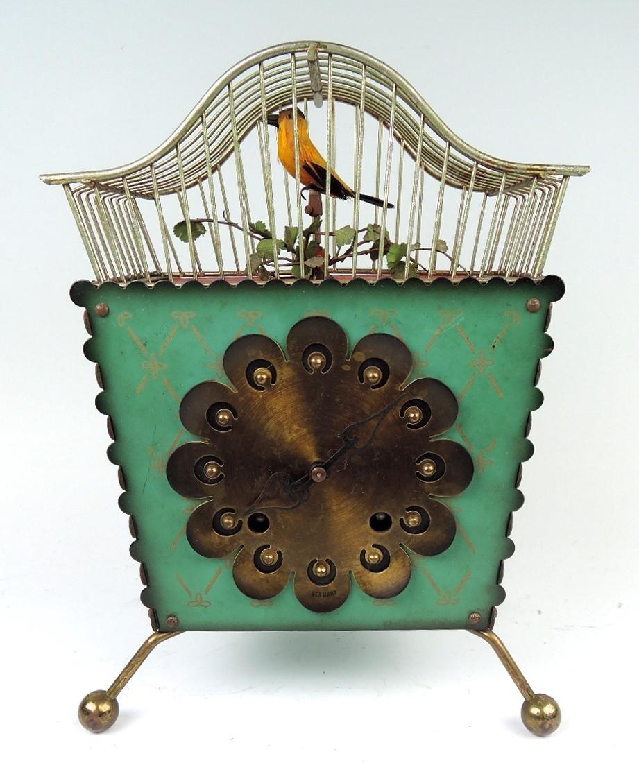 Rare Amusing Mid-Century Singing Bird Clock - 7