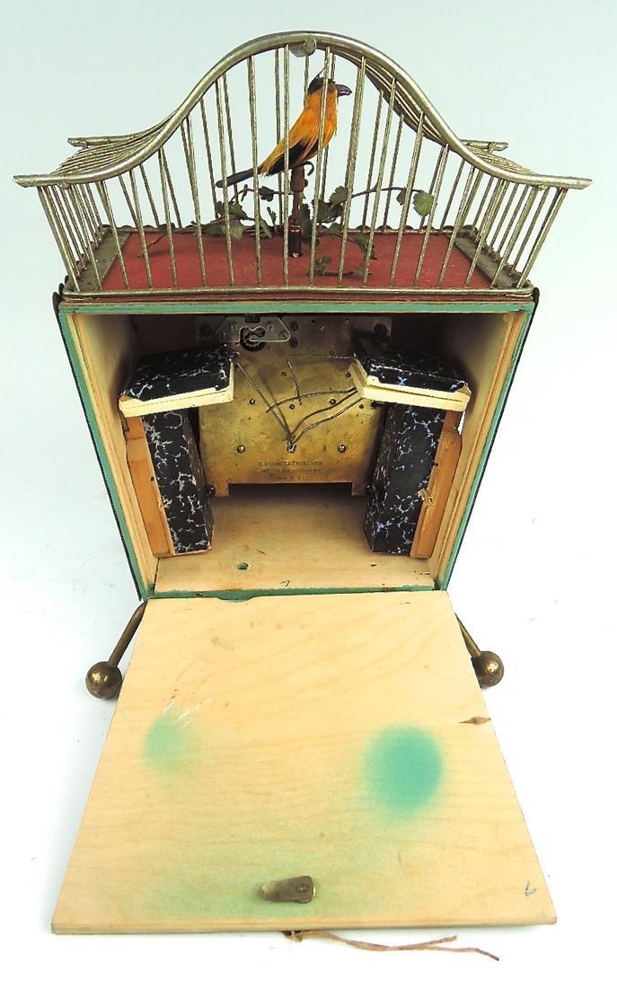 Rare Amusing Mid-Century Singing Bird Clock - 9