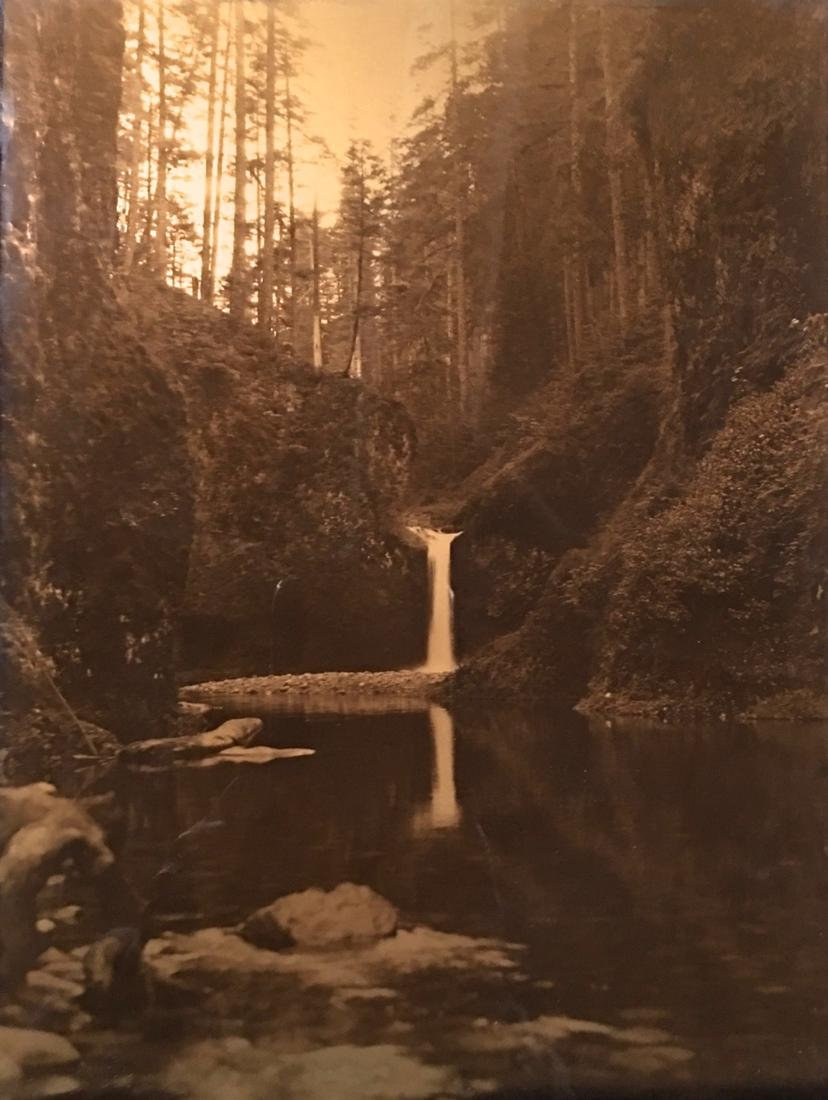 James Bert Barton Orotone (Gold Tone) Waterfalls