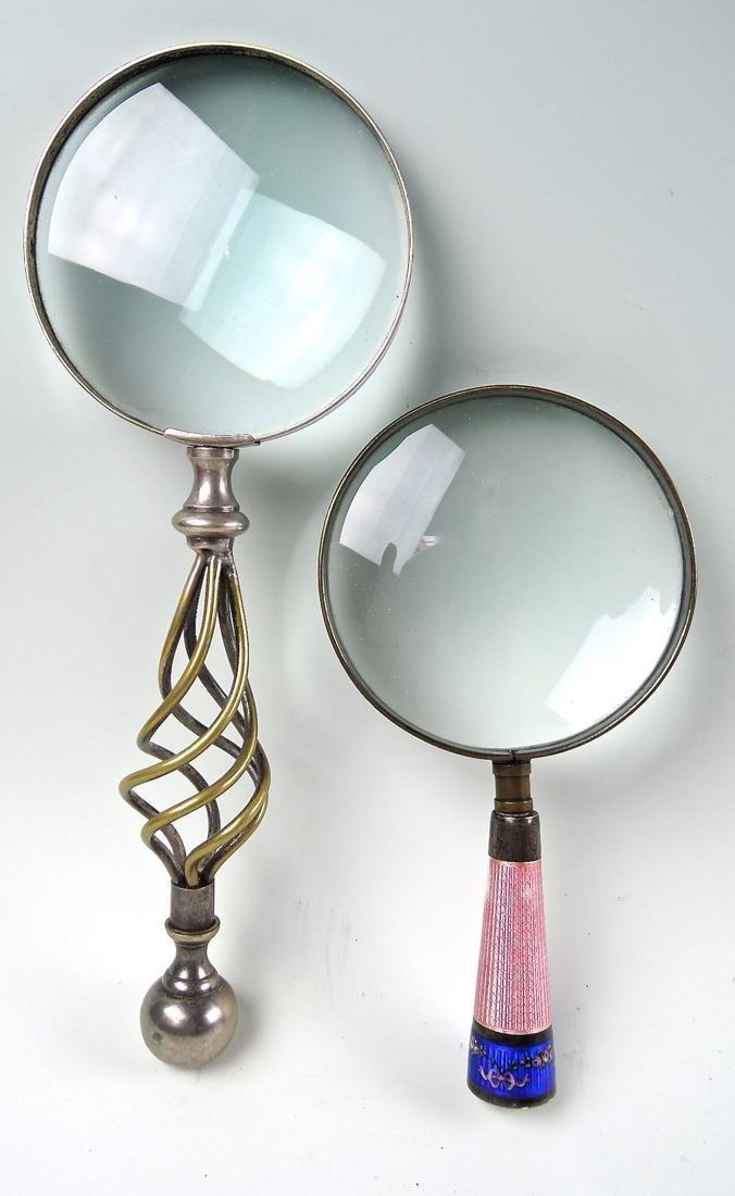 Pair Antique Magnifying Glasses