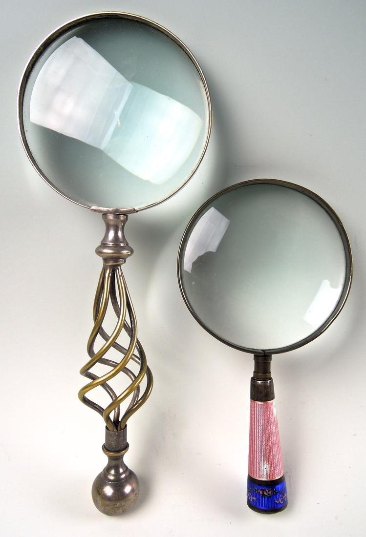Pair Antique Magnifying Glasses - 2