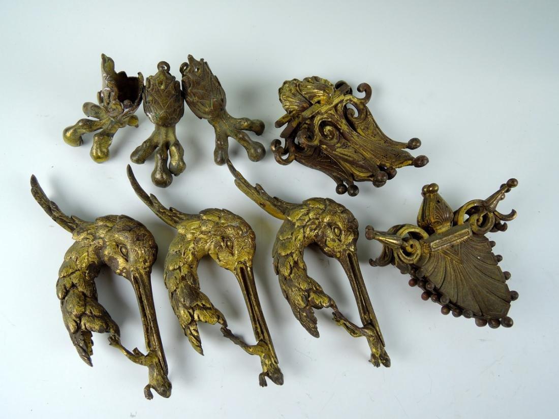 Antique Gilt Bronze Furniture Mounts