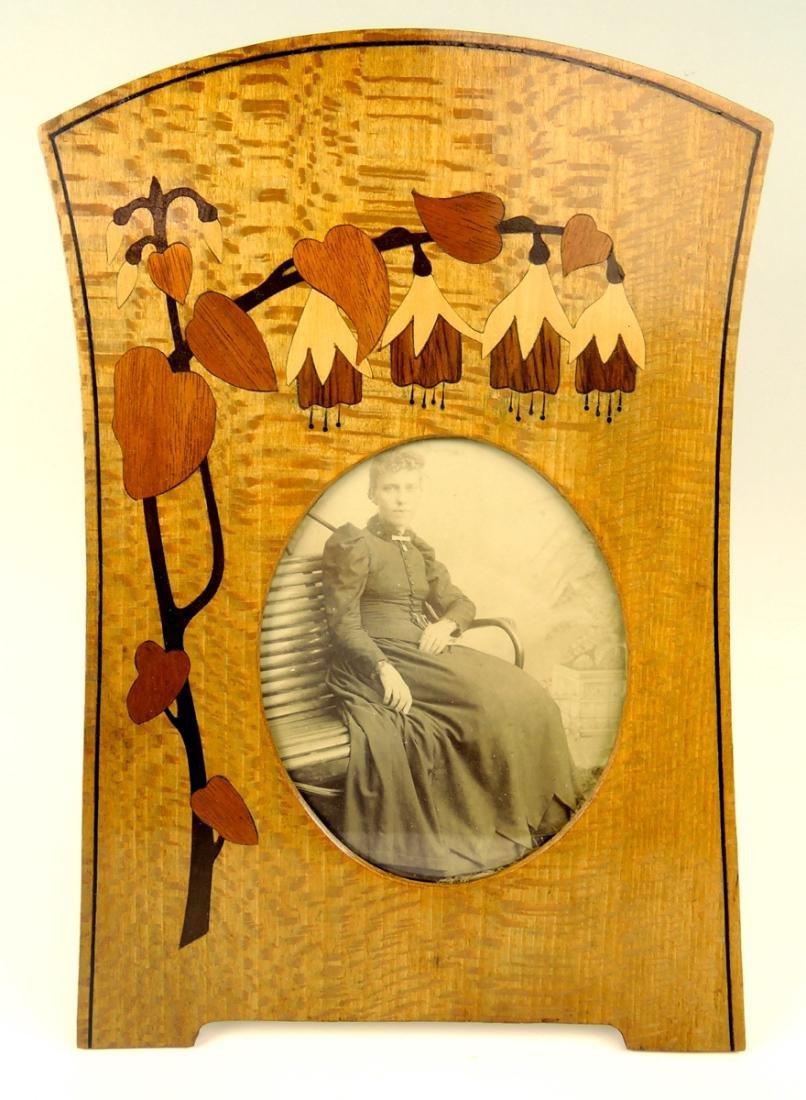 Art Nouveau Marquetry Frame