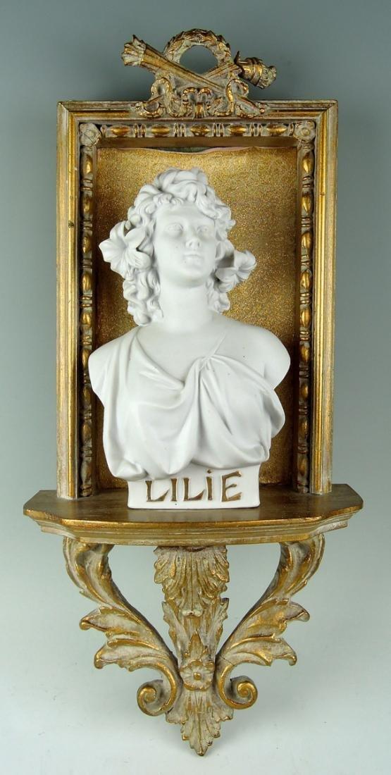 """Art Nouveau Bisque Bust """"Lilie"""""""
