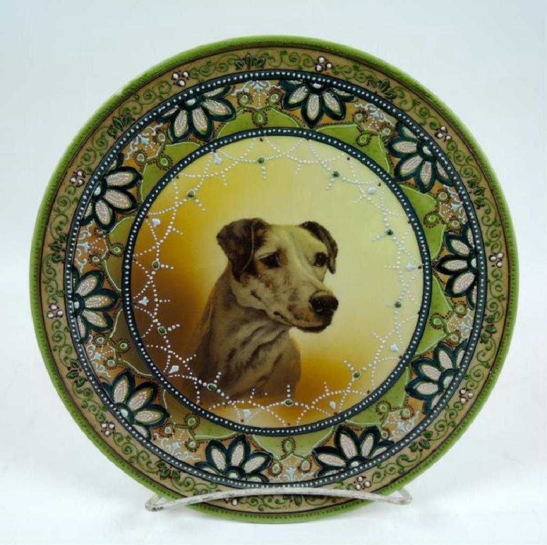 Nippon Moriage Dog Portrait Plate