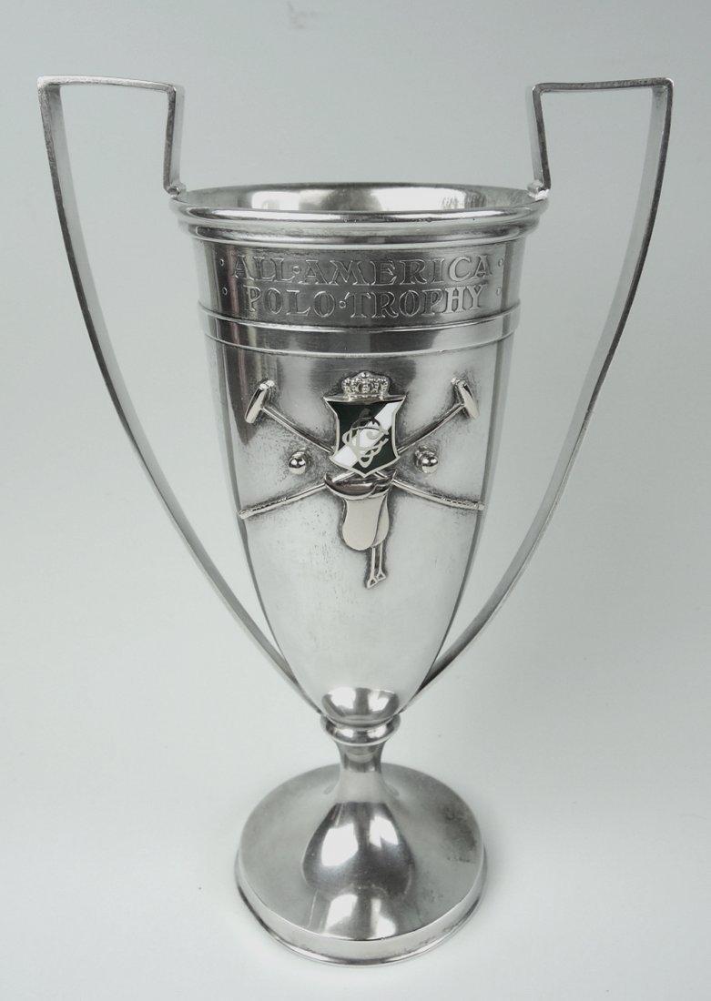 Shreve & Co Sterling & Gold Polo Trophy