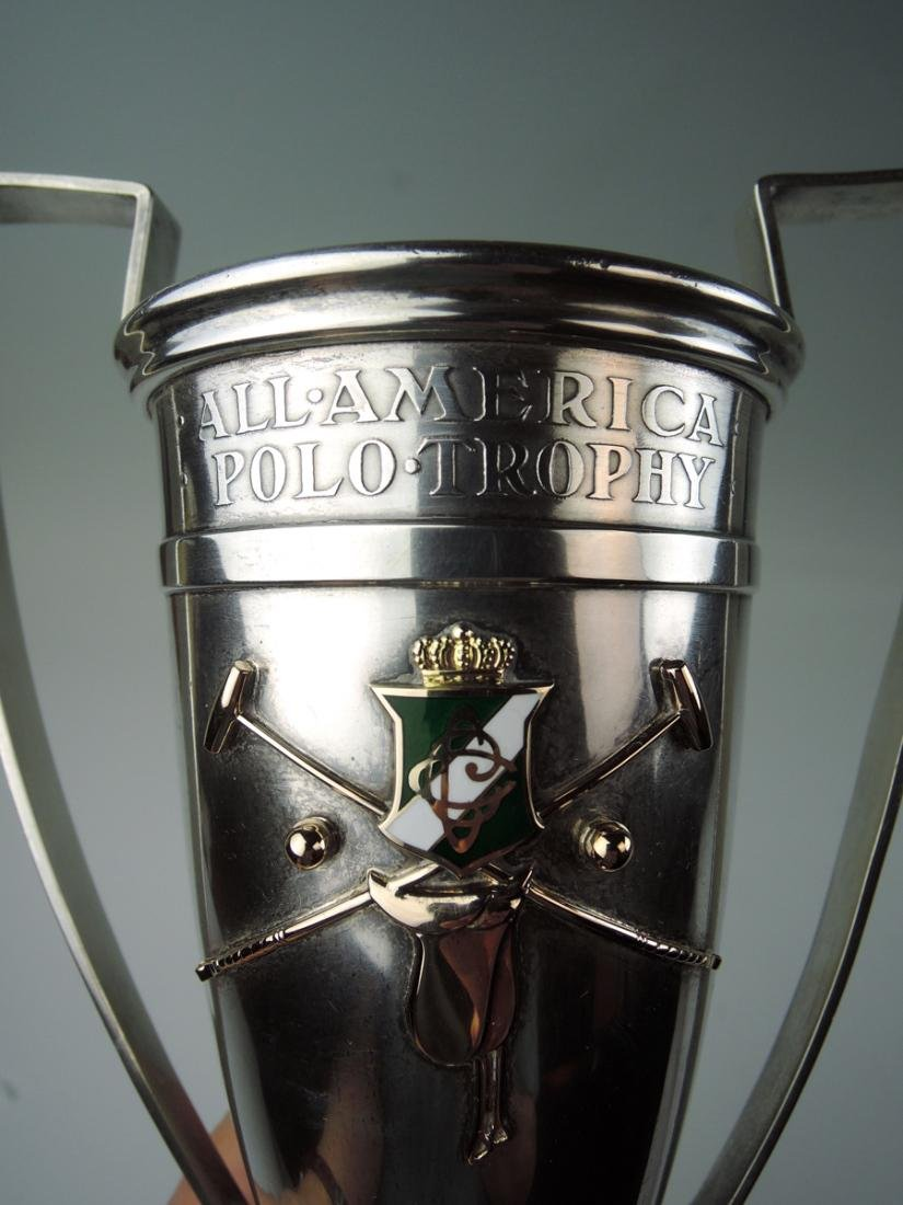 Shreve & Co Sterling & Gold Polo Trophy - 2