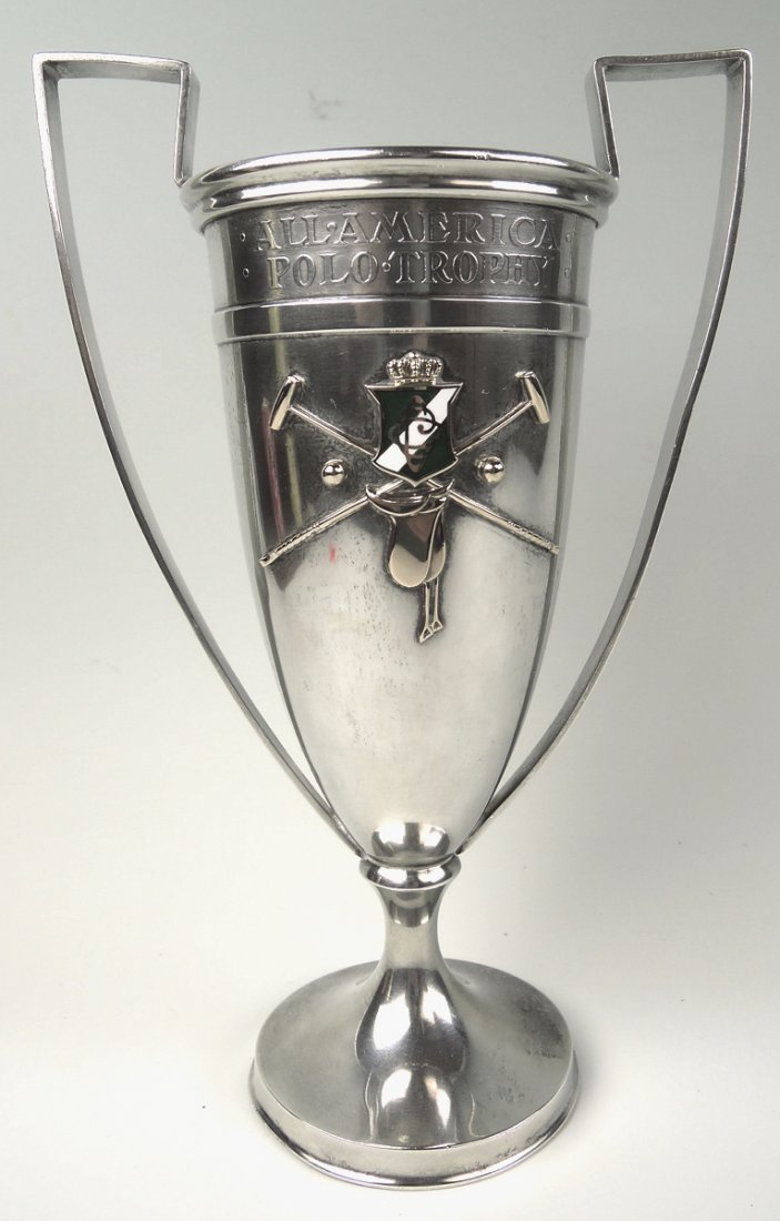 Shreve & Co Sterling & Gold Polo Trophy - 3