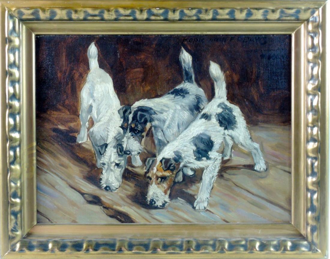 Frederick Daws Dog Painting