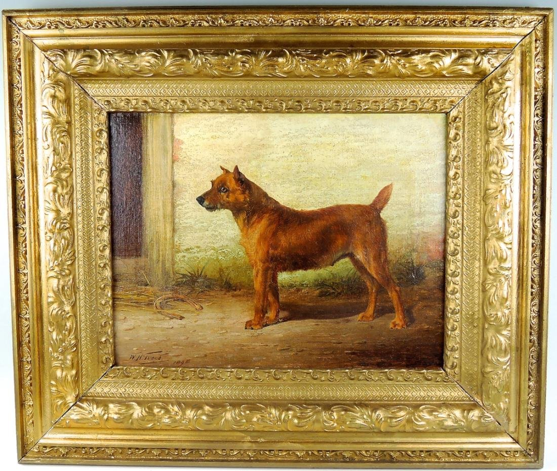 W.Trood O/C Painting Irish Terrier