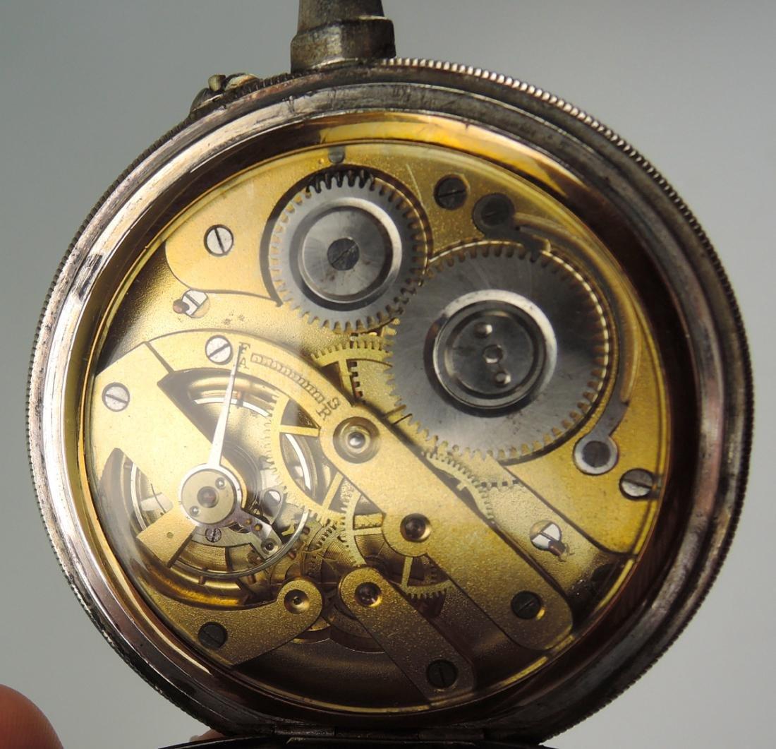 Antique Erotic Pocket Watch w Nude - 4