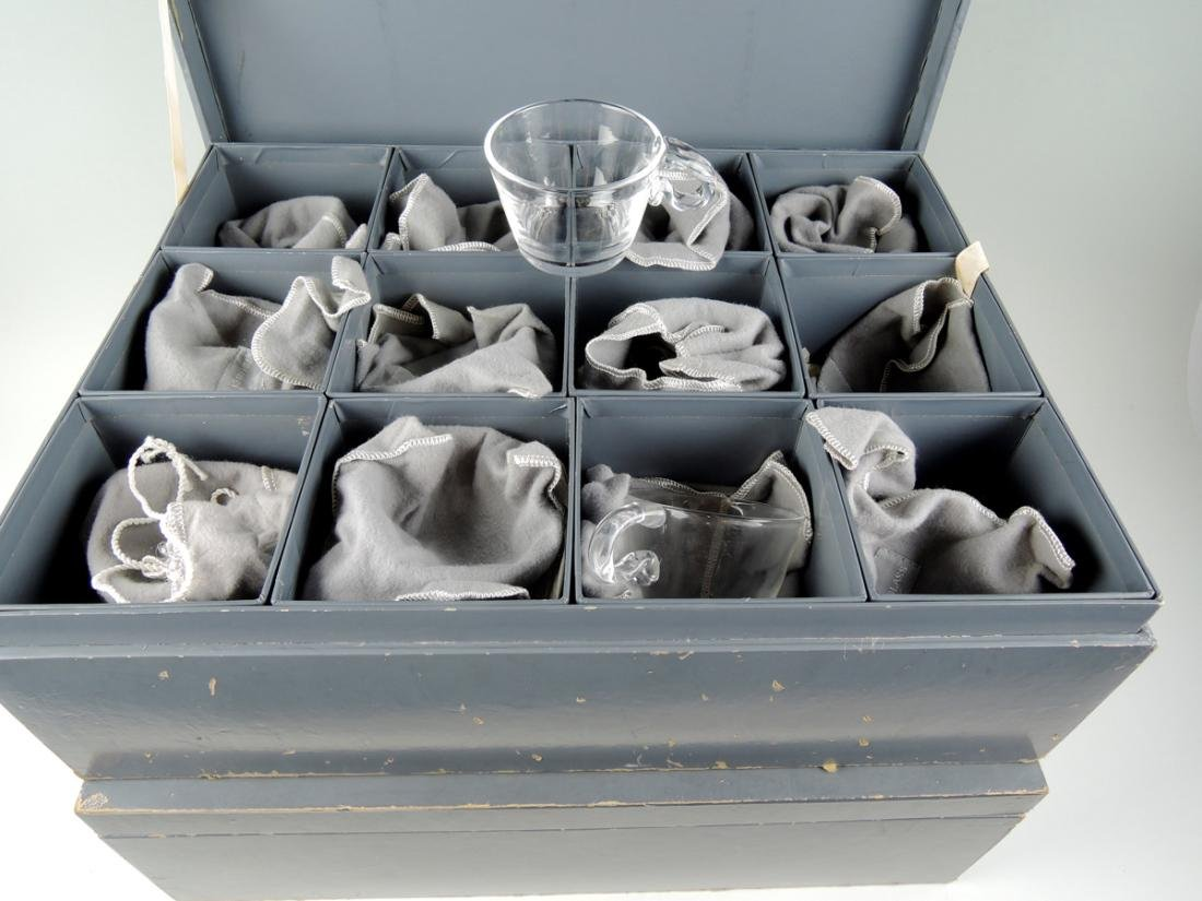 Set of 24 Steuben Glasses w Fitted Boxes - 2