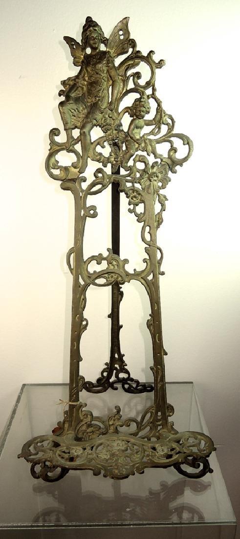 Rare Bronze Art Nouveau Easel