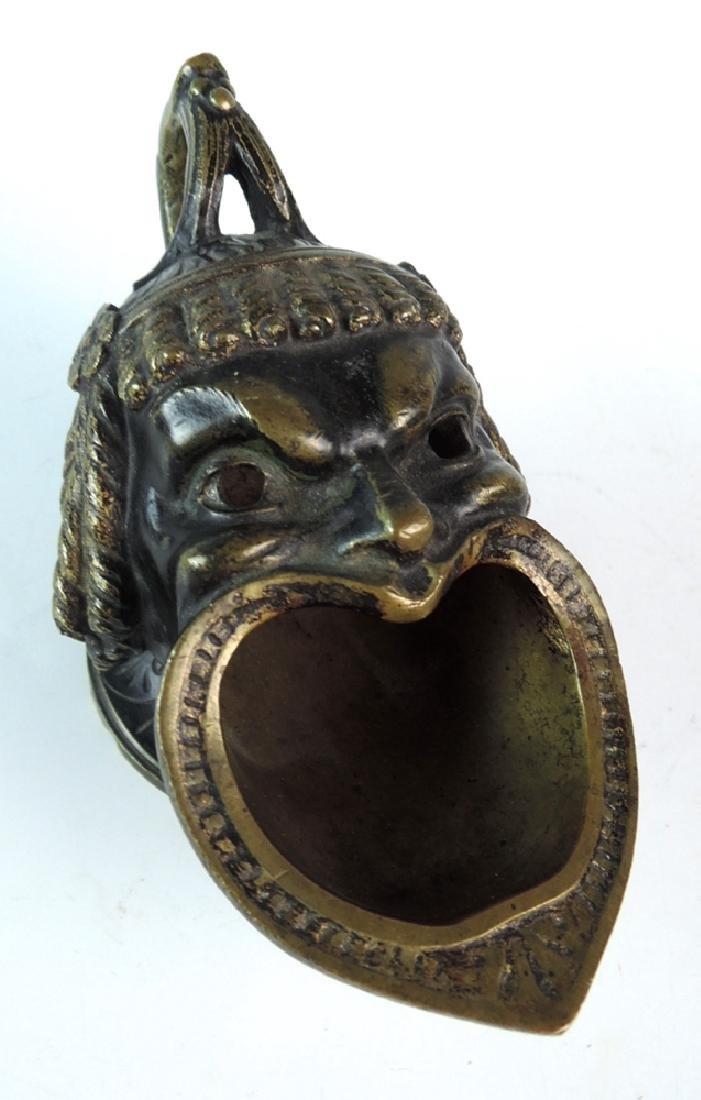Bronze Mythological Man's Head