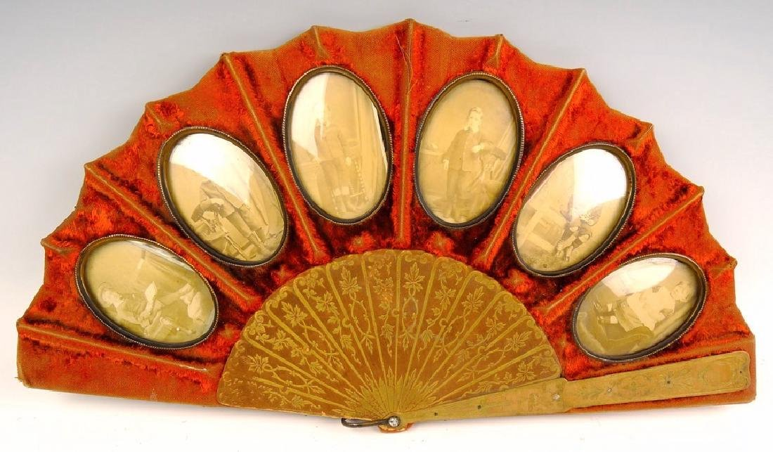 Late 19th Century Ladies Fan Shaped Frame