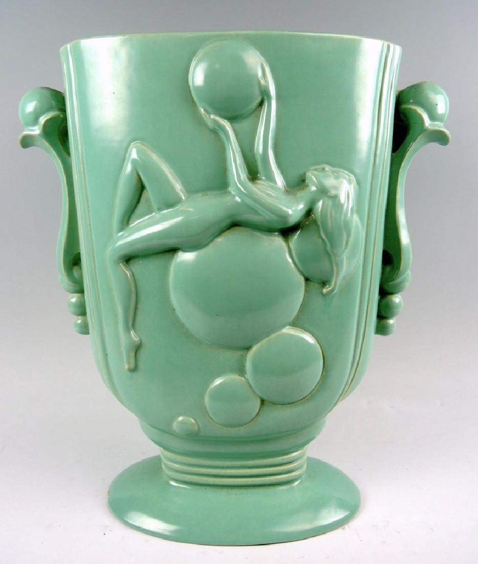 Pacific Pottery Art Deco Vase w Nude