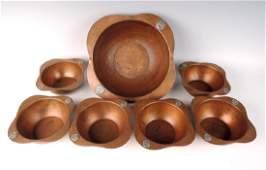 Benedict Studios Arts & Crafts Mixed Metal Bowls