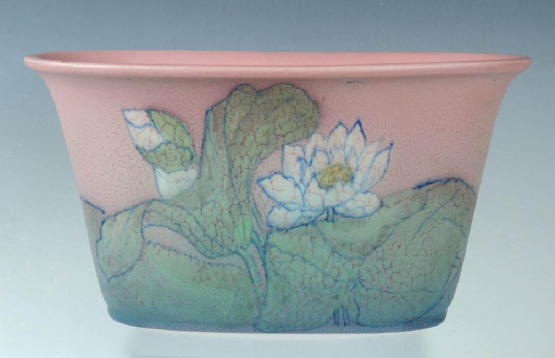 Rookwood Earthenware Lotus Jardiniere