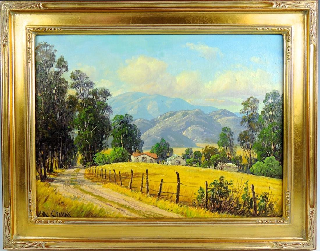 Paul Grimm Country Road Painting