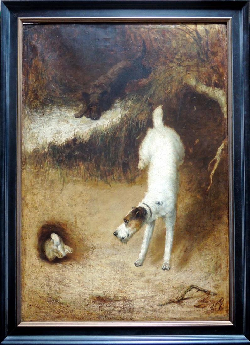 M. Collyer Jack Russell & Scottie Dog Painting