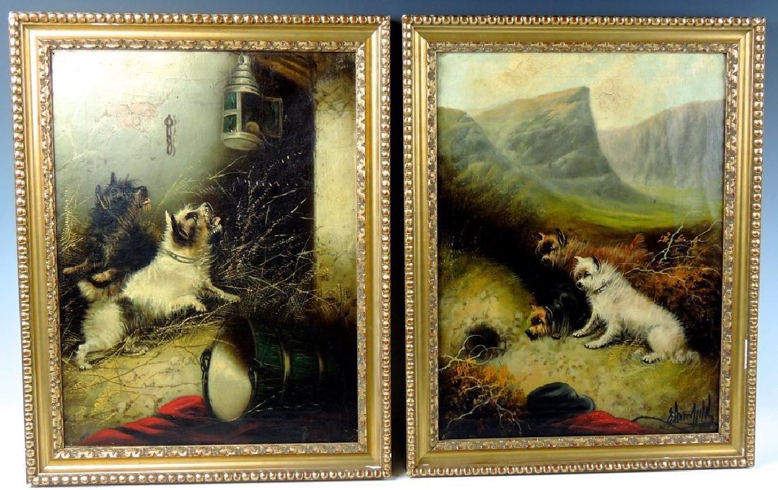 George Armfield Pair of Dog Paintings