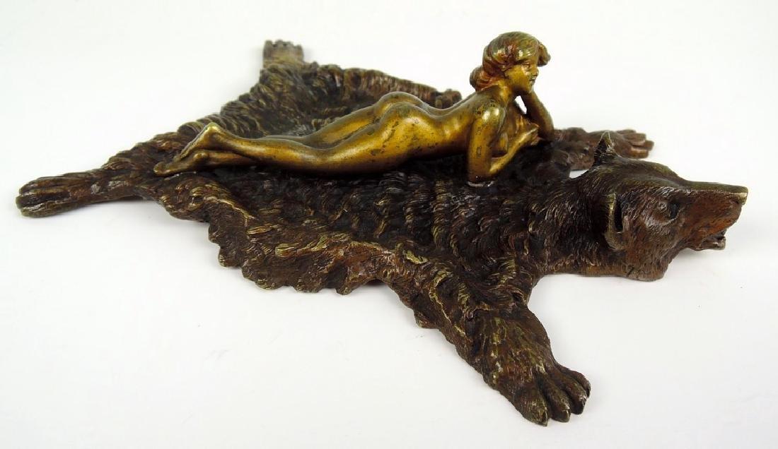 Bergman Austrian Bronze Nude on Rug