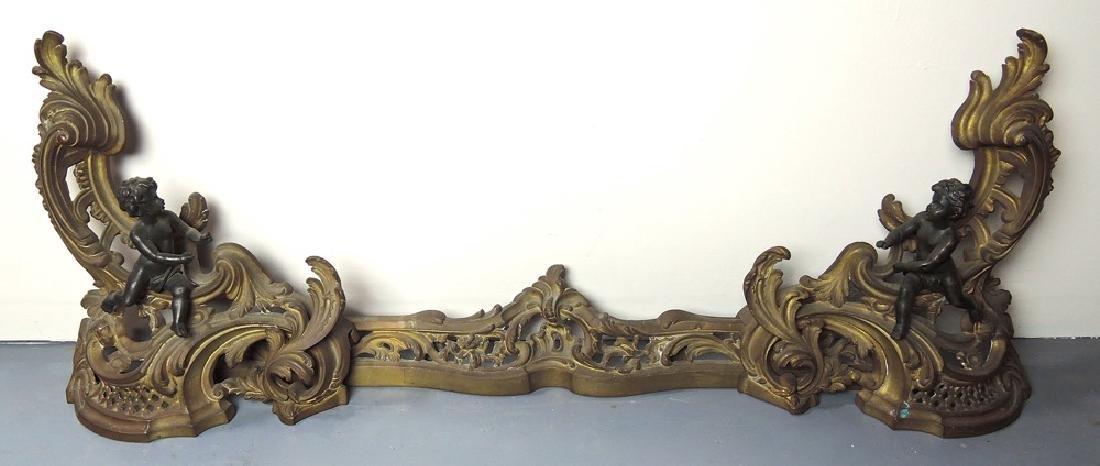 Louis XV Bronze Chenets w Putti