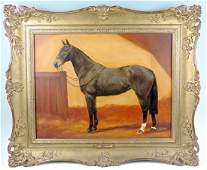 Frances Mabel Hollams Horse in Stable Painting