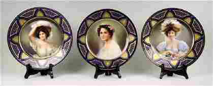 3 Royal Vienna Plates