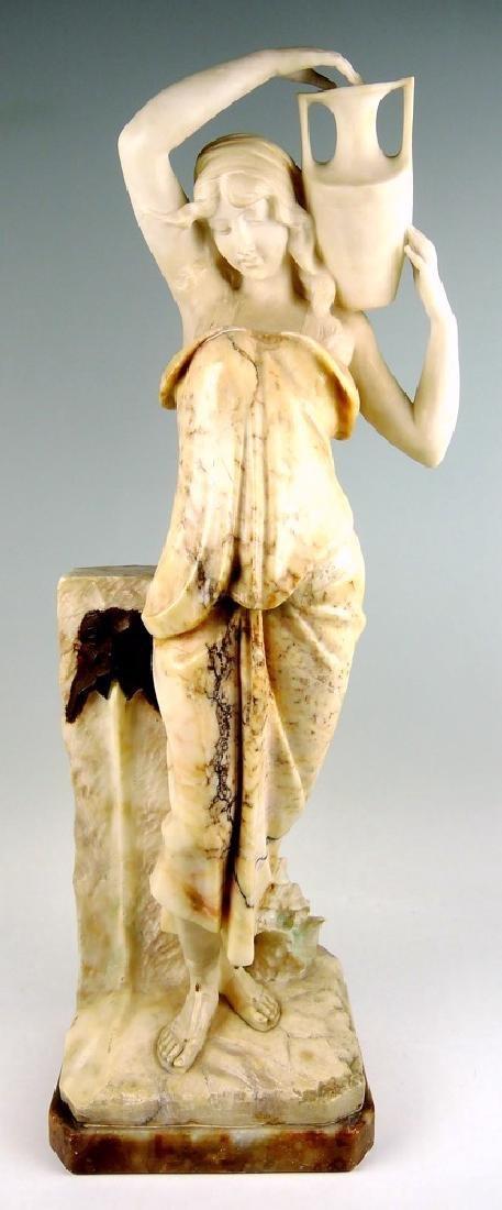 Art Nouveau Marble Sculpture of a Lady
