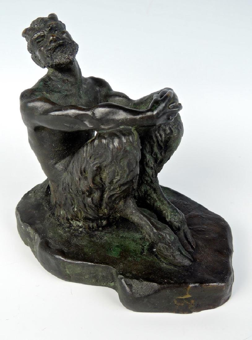 Bronze Saytr with Clasped Hands