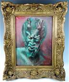Vintage Devil Painting