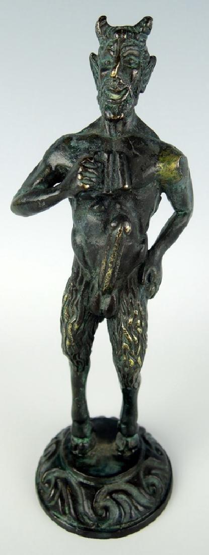 Bronze Standing Erotic Faun Sculpture