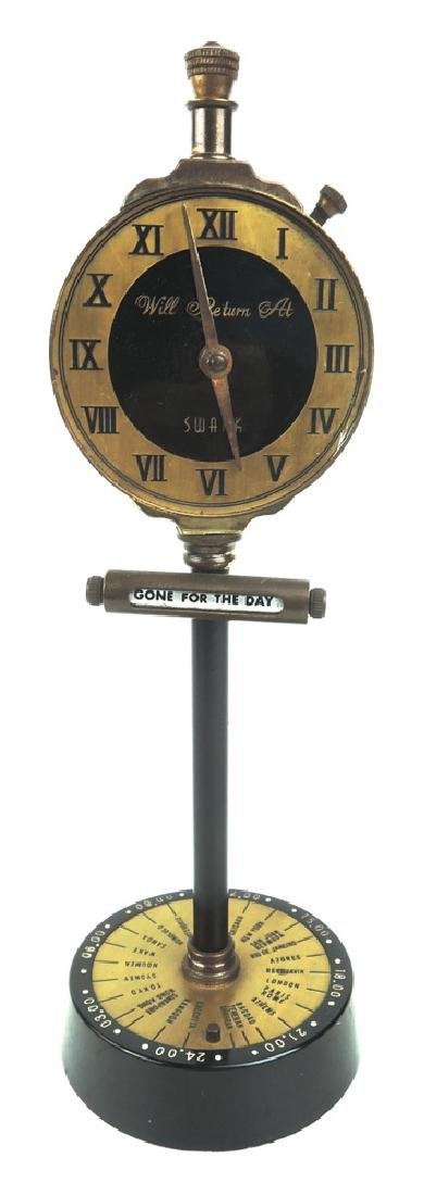Swank Clock Cigarette Lighter