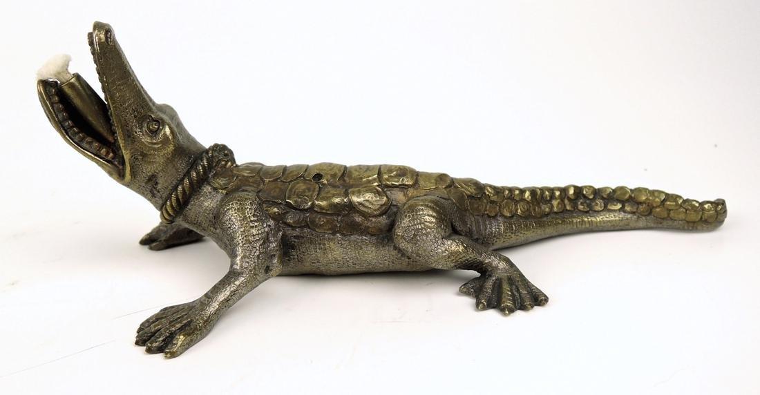 Bronze Alligator Cigar Lighter
