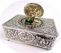 Silver Singing Bird Box
