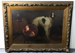 Large Dog Painting with Borzoi (Russian Wolfhound)