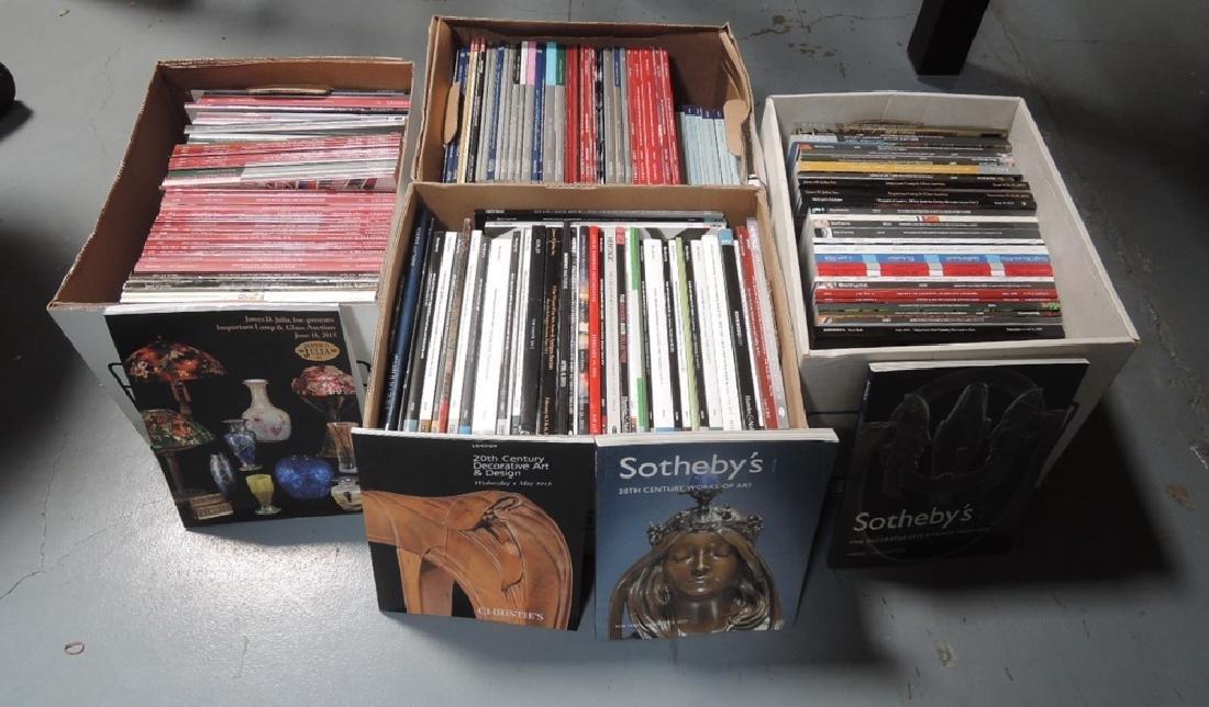 4 Huge Boxes Auction Catalogs
