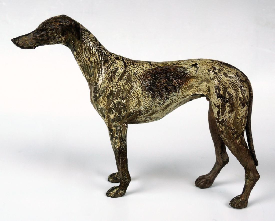 Vienna Bronze Whippet Dog Sculpture