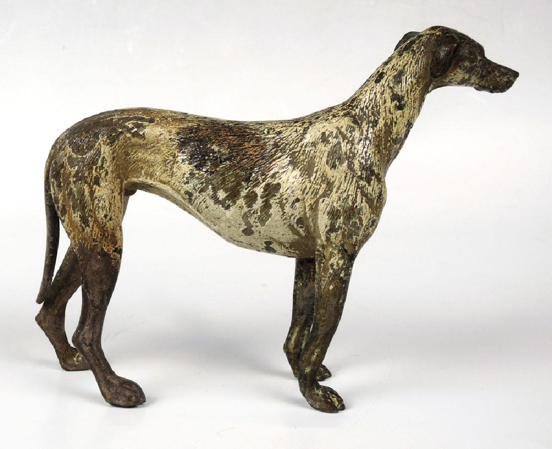 Vienna Bronze Whippet Dog Sculpture - 2