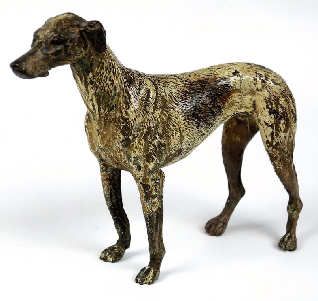 Vienna Bronze Whippet Dog Sculpture - 3