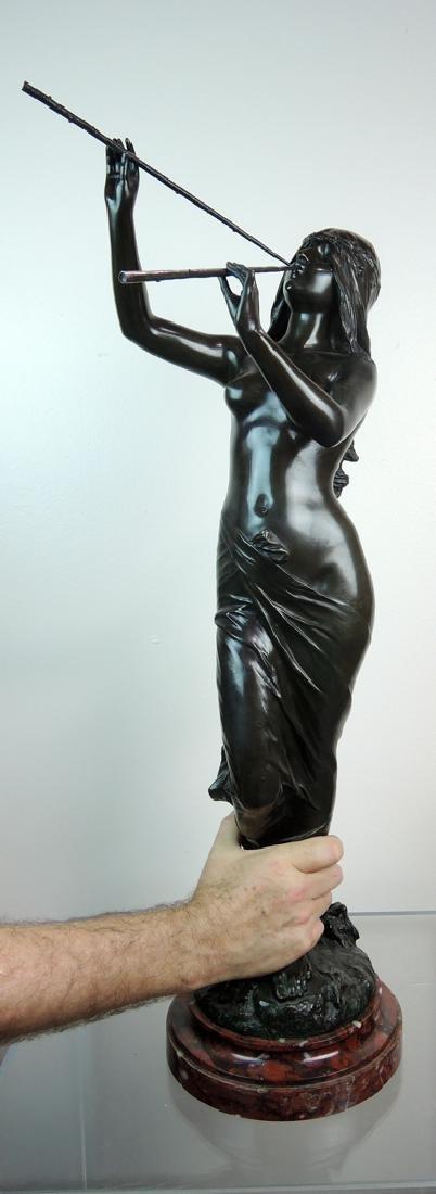 Edouard Drouot Art Nouveau Bronze Dancing Maiden