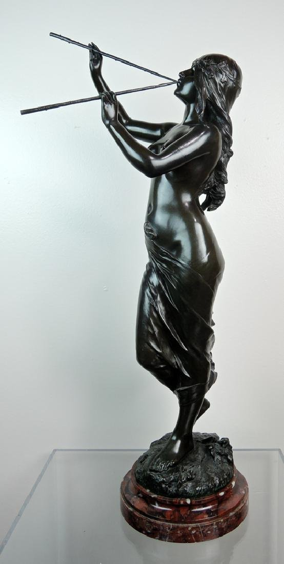 Edouard Drouot Art Nouveau Bronze Dancing Maiden - 2