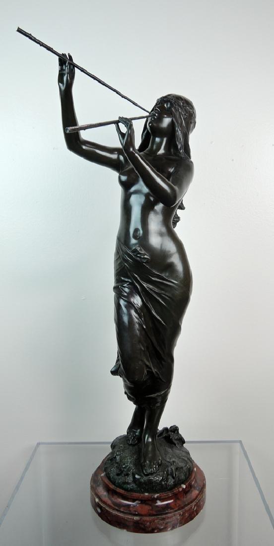 Edouard Drouot Art Nouveau Bronze Dancing Maiden - 3