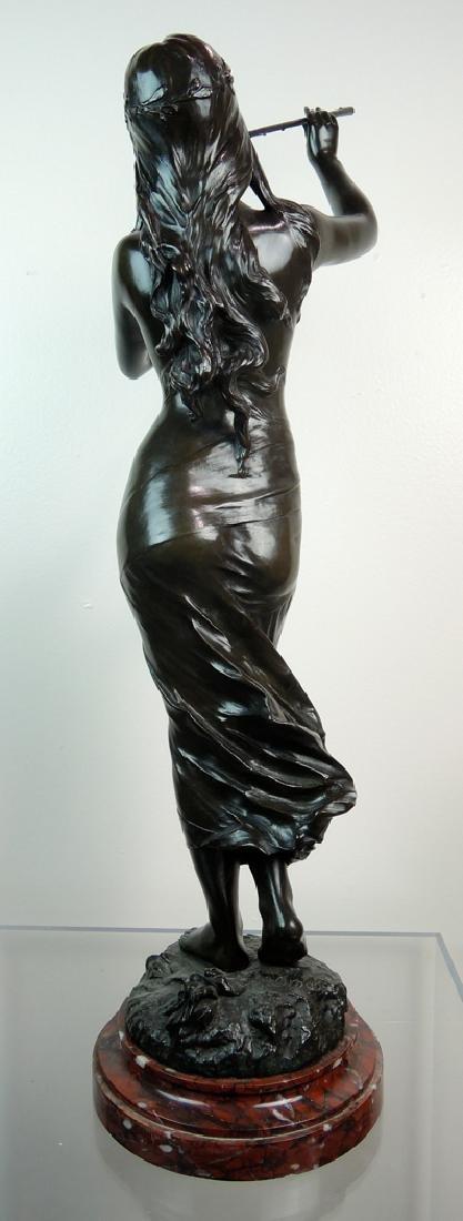 Edouard Drouot Art Nouveau Bronze Dancing Maiden - 4