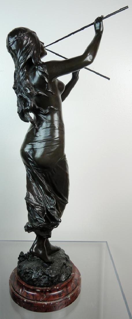 Edouard Drouot Art Nouveau Bronze Dancing Maiden - 5