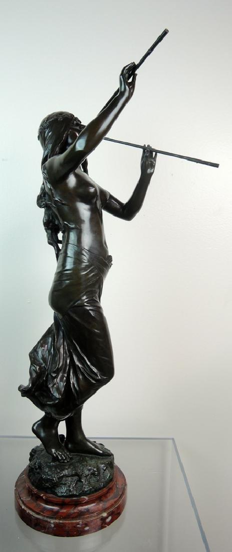 Edouard Drouot Art Nouveau Bronze Dancing Maiden - 7